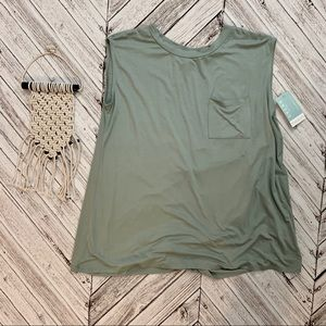 NEW seafoam green sleeveless top